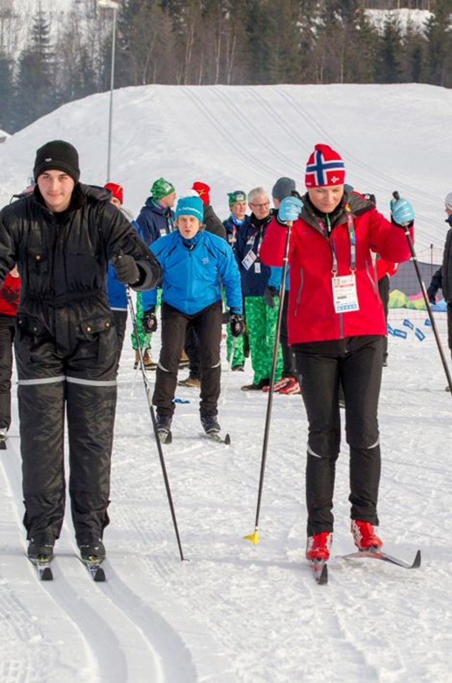 La princesse Mette-Marit de Norvège à Lillehammer, le 13 février 2016