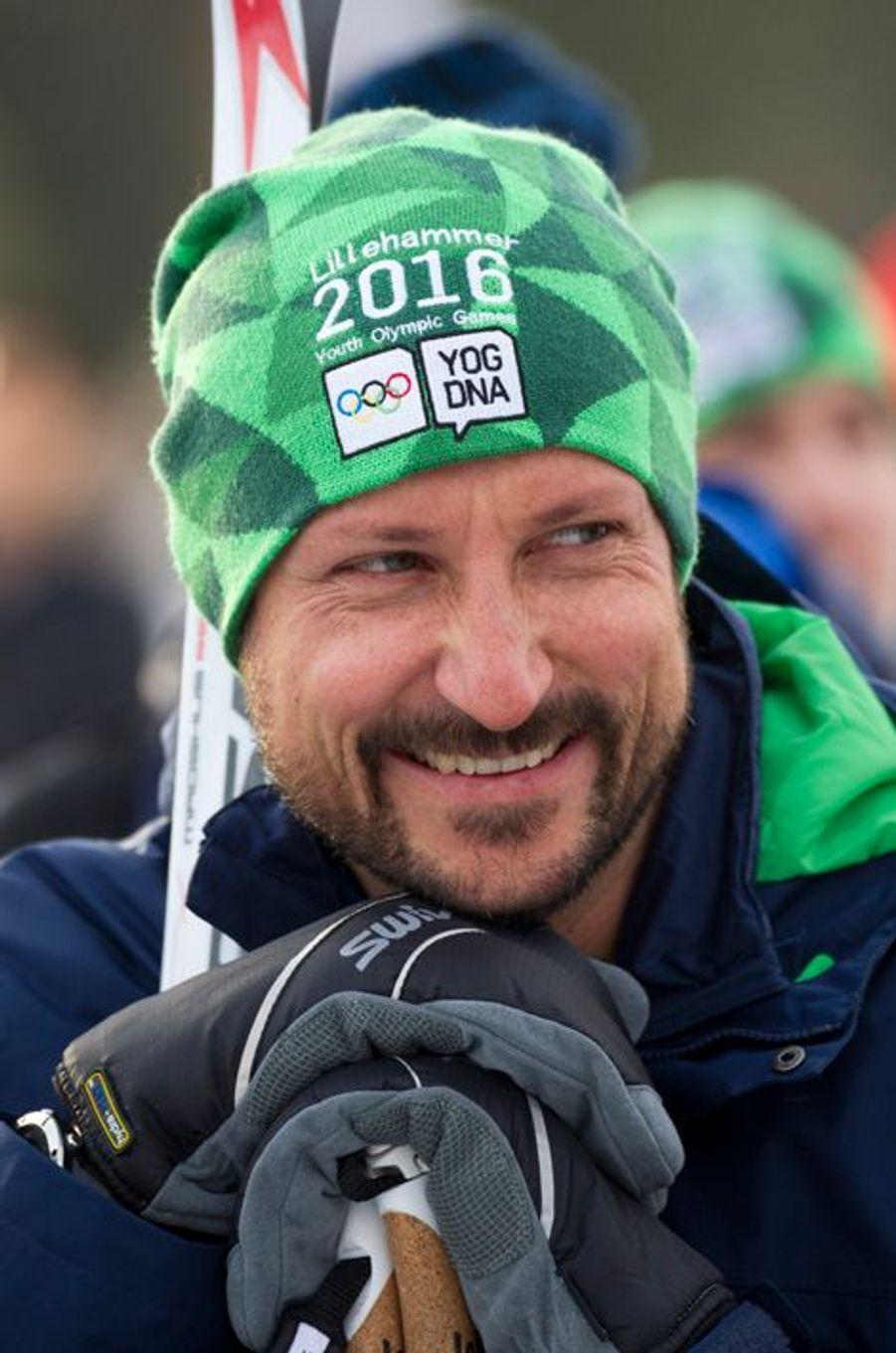 Le prince Haakon de Norvège à Lillehammer, le 13 février 2016
