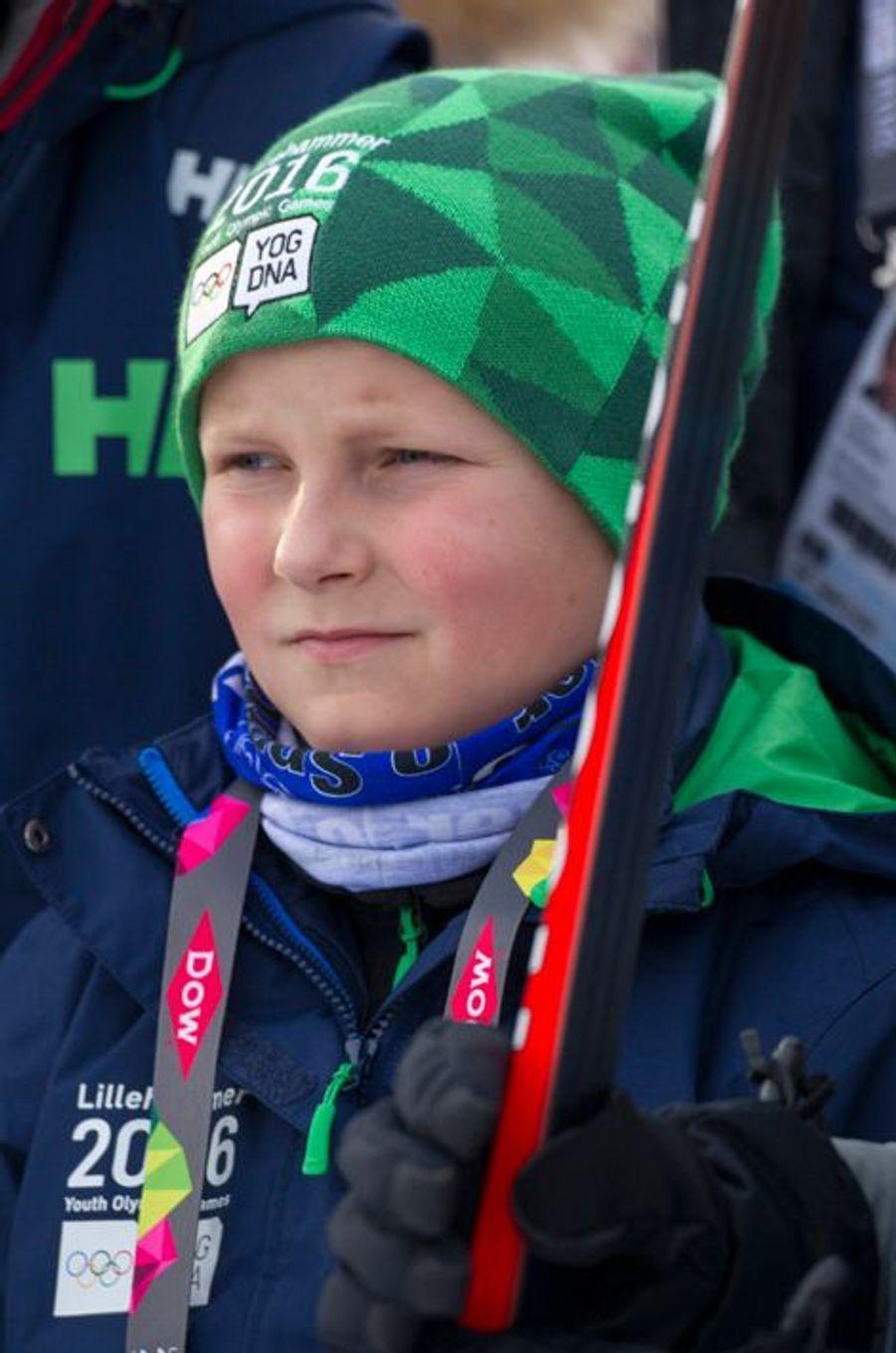 Le prince Sverre Magnus de Norvège à Lillehammer, le 13 février 2016