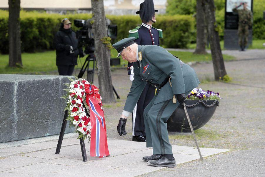 Le roi Harald V de Norvège à Oslo, le 8 mai 2020