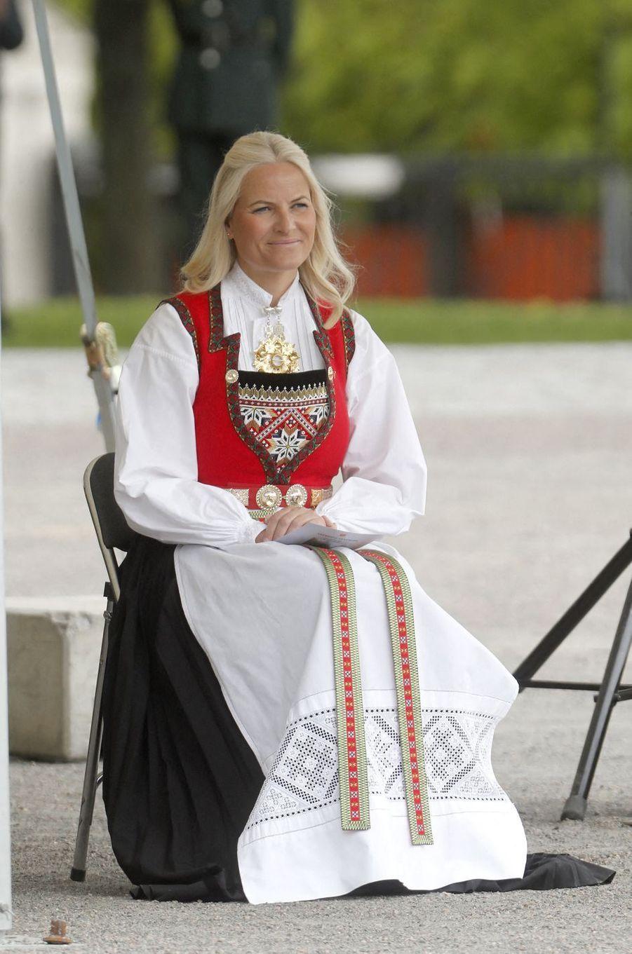La princesse Mette-Marit de Norvège à Oslo, le 8 mai 2020