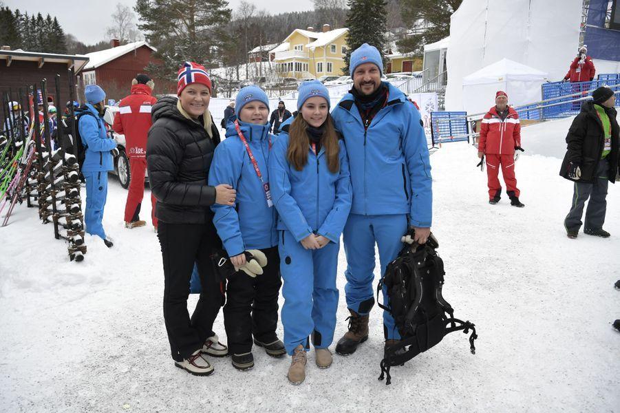 Les princesses Mette-Marit et Ingrid-Alexandra et les princes Haakon et Sverre Magnus de Norvège à Are, le 9 février 2019