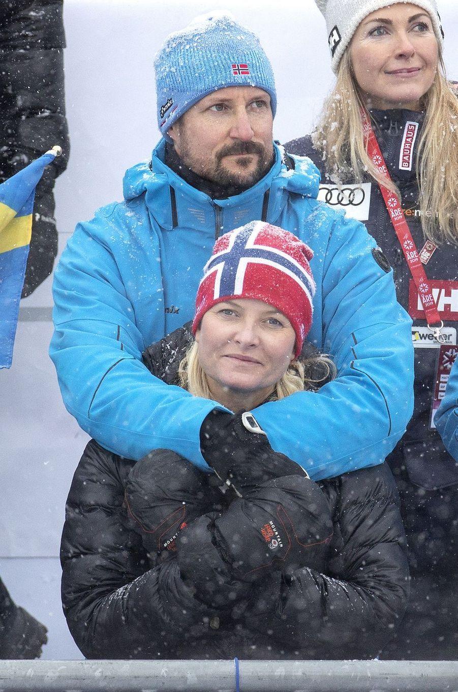 La princesse Mette-Marit et le prince Haakon de Norvège à Are, le 9 février 2019