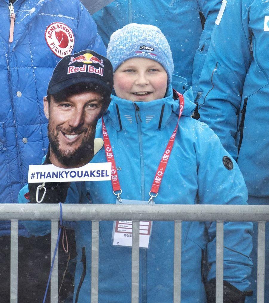 Le prince Sverre Magnus de Norvège à Are, le 9 février 2019