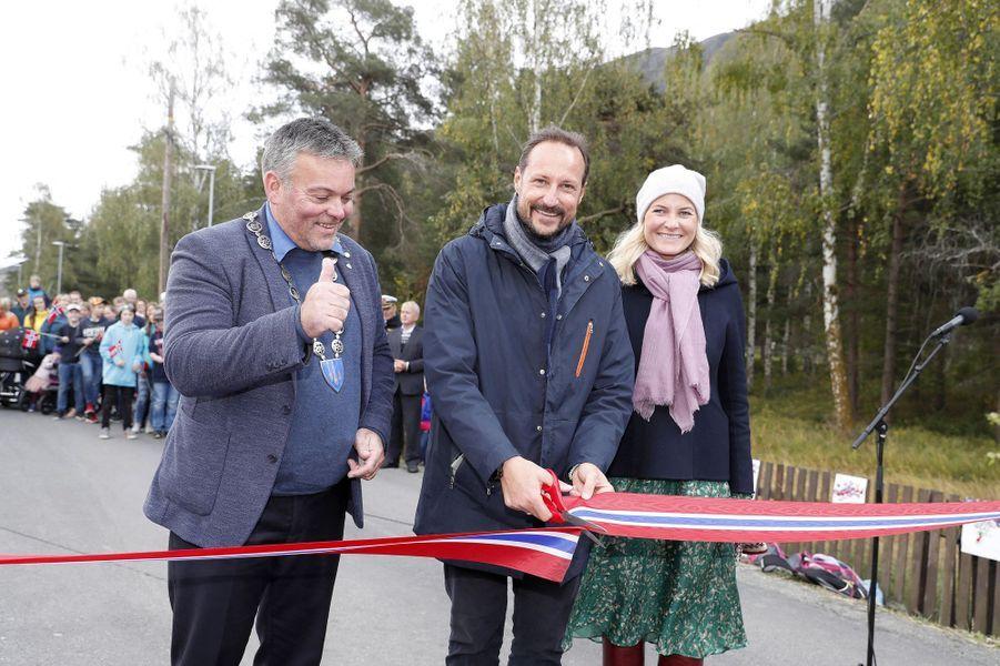 La princesse Mette-Marit et le prince Haakon de Norvège à Lom, le 18 septembre 2019