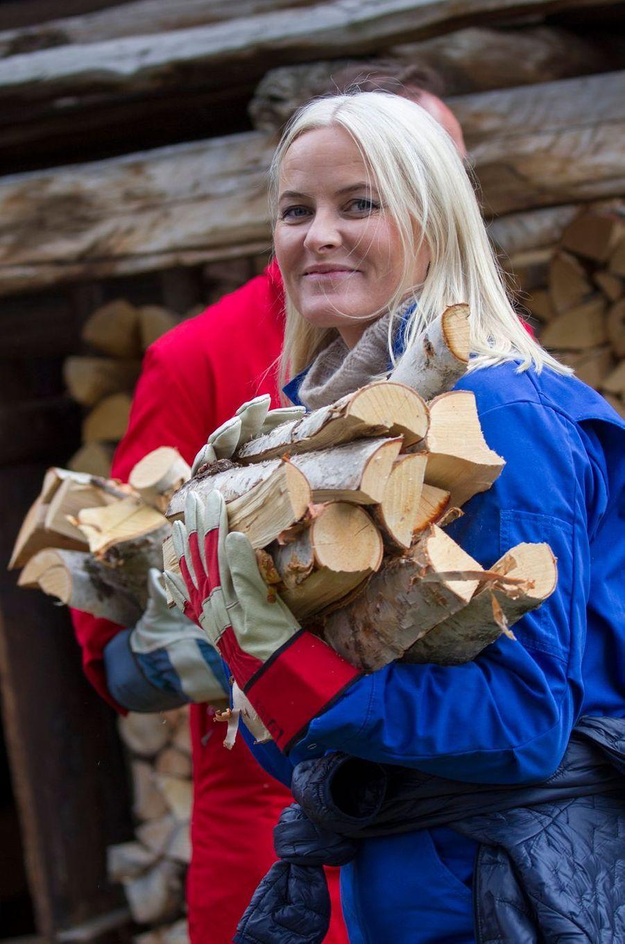 La princesse Mette-Marit de Norvège à Lesja, le 17 septembre 2019