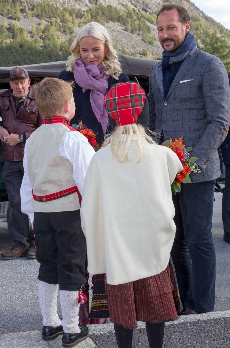 La princesse Mette-Marit et le prince Haakon de Norvège à Skjak, le 18 septembre 2019
