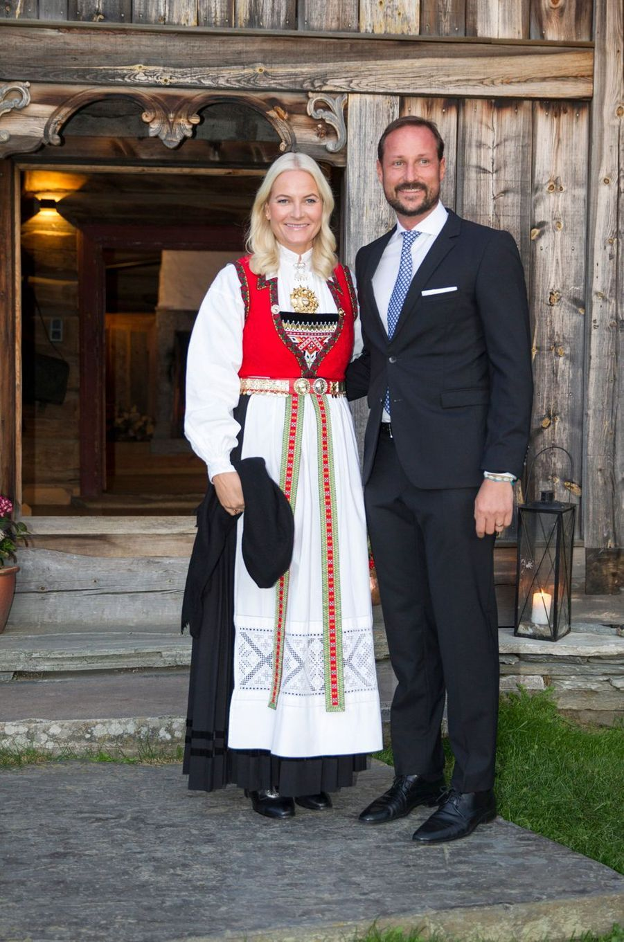 La princesse Mette-Marit et le prince Haakon de Norvège à Vaga, le 18 septembre 2019
