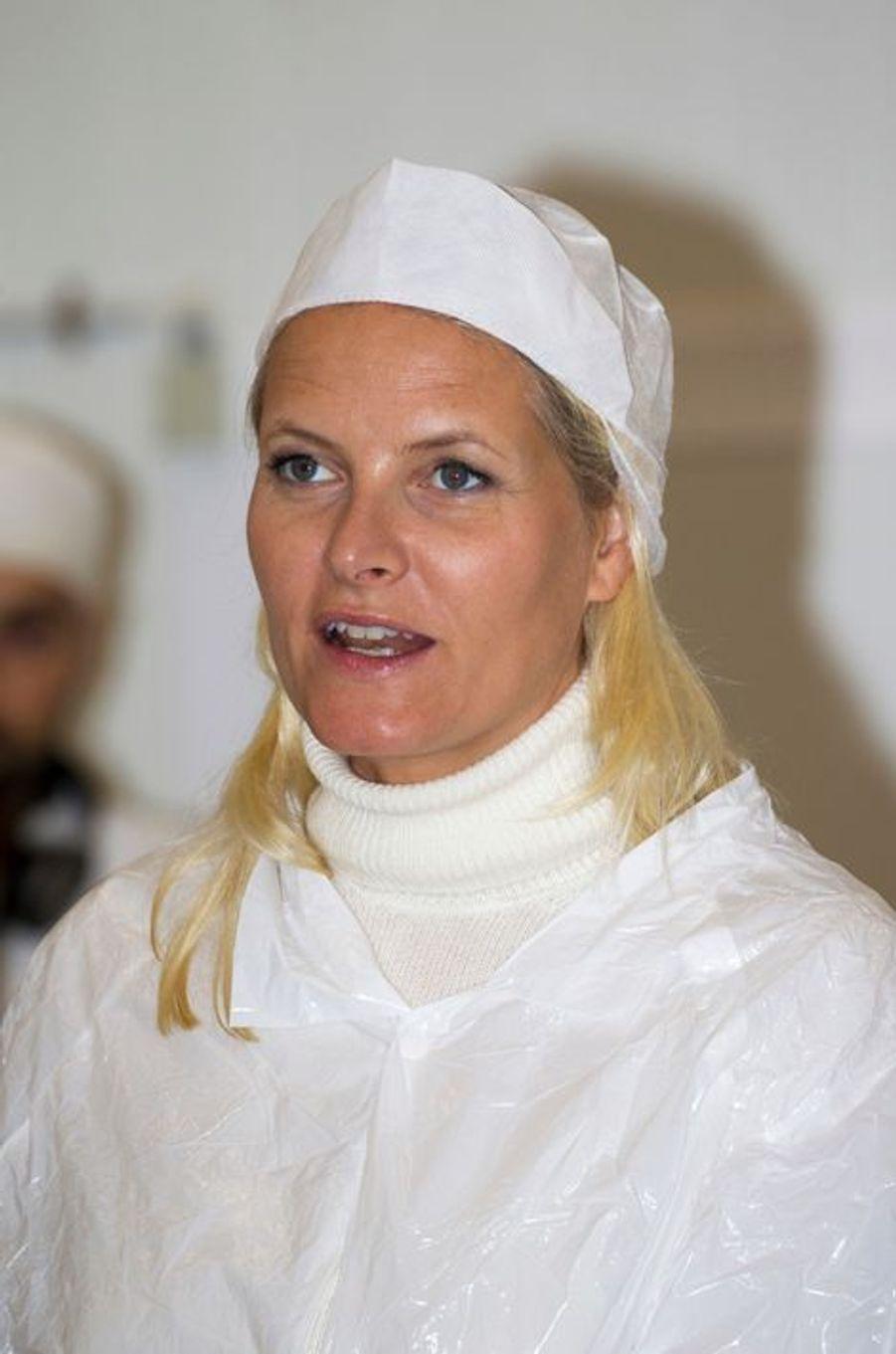 La princesse Mette-Marit de Norvège à Kolbotn, le 15 septembre 2015