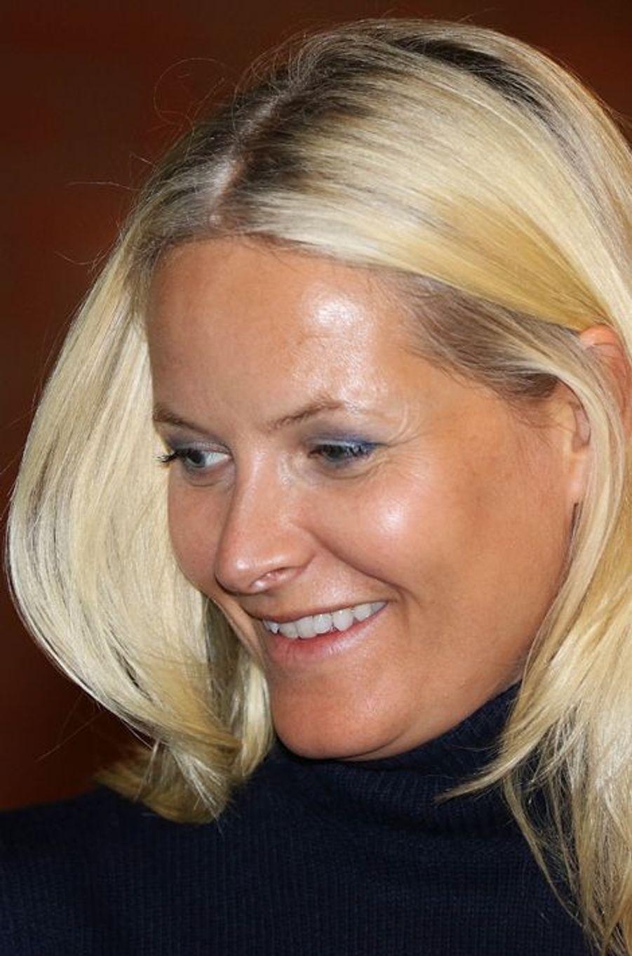 La princesse Mette-Marit de Norvège à Nittedal, le 17 septembre 2015