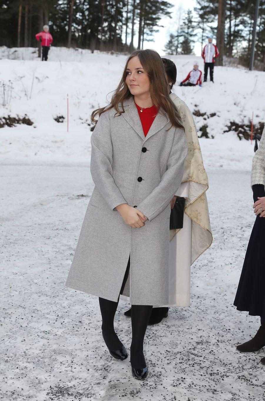La princesse Ingrid Alexandra de Norvège à Oslo, le 25 décembre 2018
