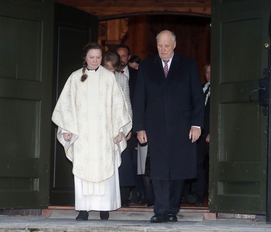 Le roi Harald V de Norvège à Oslo, le 25 décembre 2018