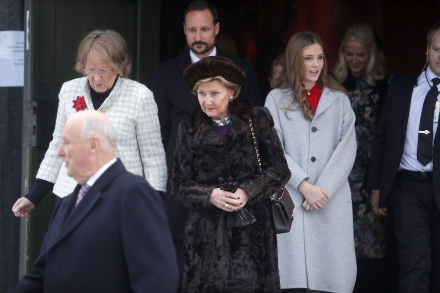 La famille royale de Norvège à Oslo, le 15 décembre 2018