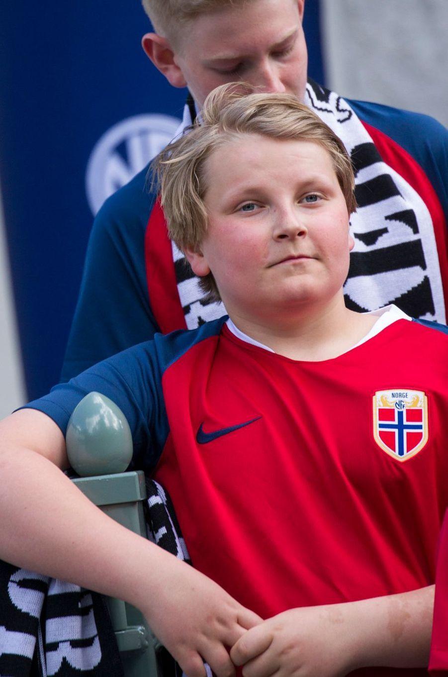Le prince Sverre Magnus de Norvège à Asker, le 29 mai 2019