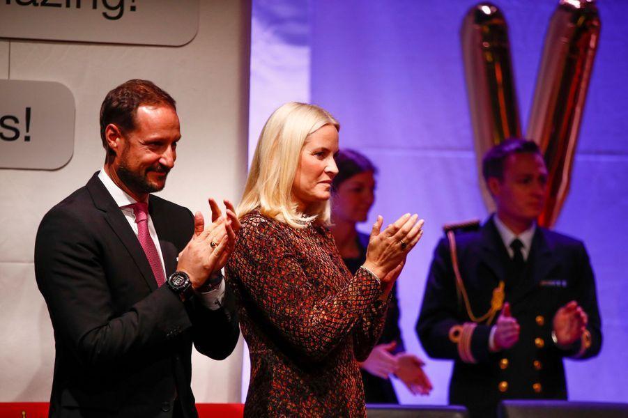 Le prince Haakon et la princesse Mette-Marit de Norvège à Oslo, le 10 décembre 2018