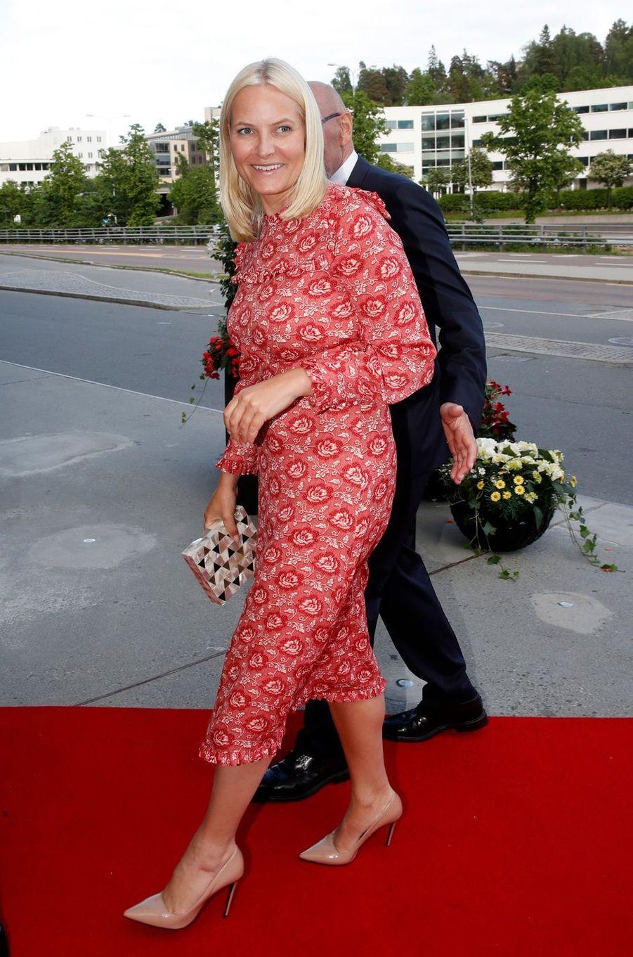 La princesse Mette-Marit de Norvège àLysaker près d'Oslo, le 31 mai 2017