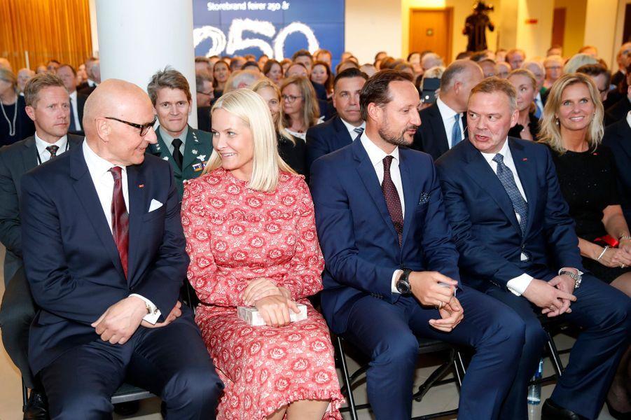 La princesse Mette-Marit et le prince Haakon de Norvège àLysaker près d'Oslo, le 31 mai 2017