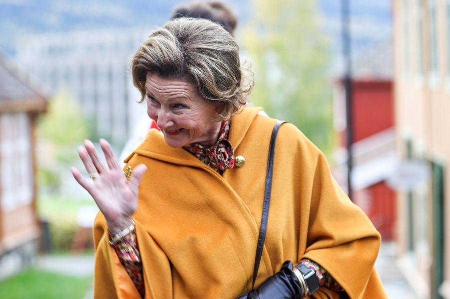 La reine Sonja de Norvège, le 25 septembre 2020 à Lillehammer