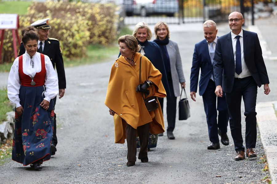 La reine Sonja de Norvège à Lillehammer, le 25 septembre 2020