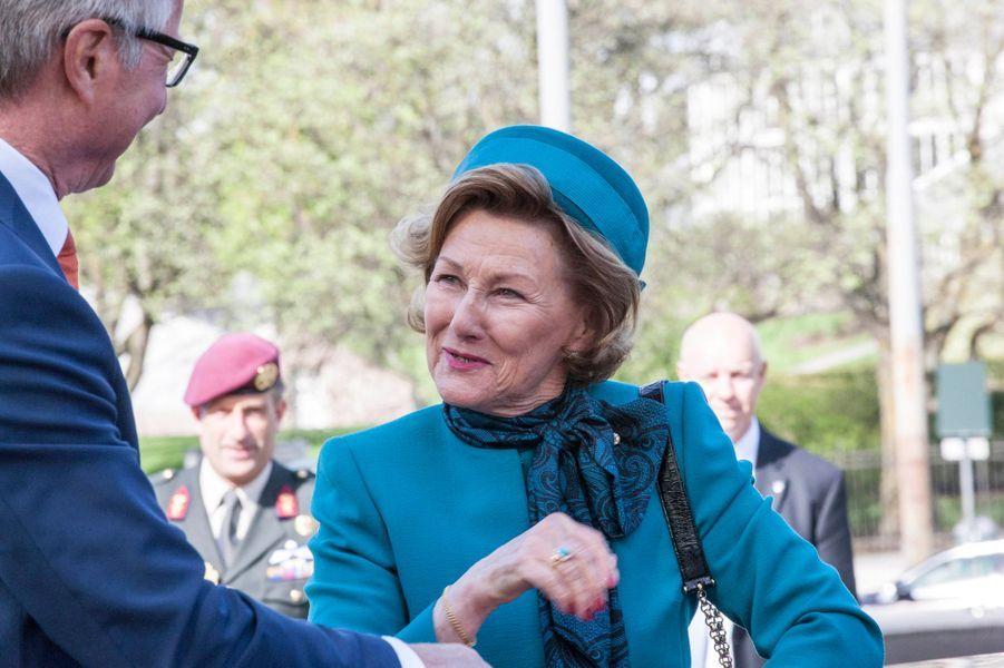 La reine Sonja de Norvège à Oslo, le 9 mai 2015