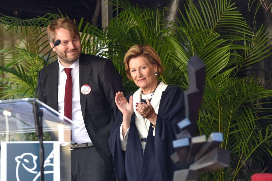 La reine Sonja de Norvège à Rouen, le 24 septembre 2018