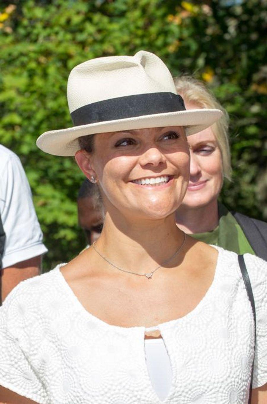 La princesse Victoria de Suède à Halden en Norvège, le 22 août 2015