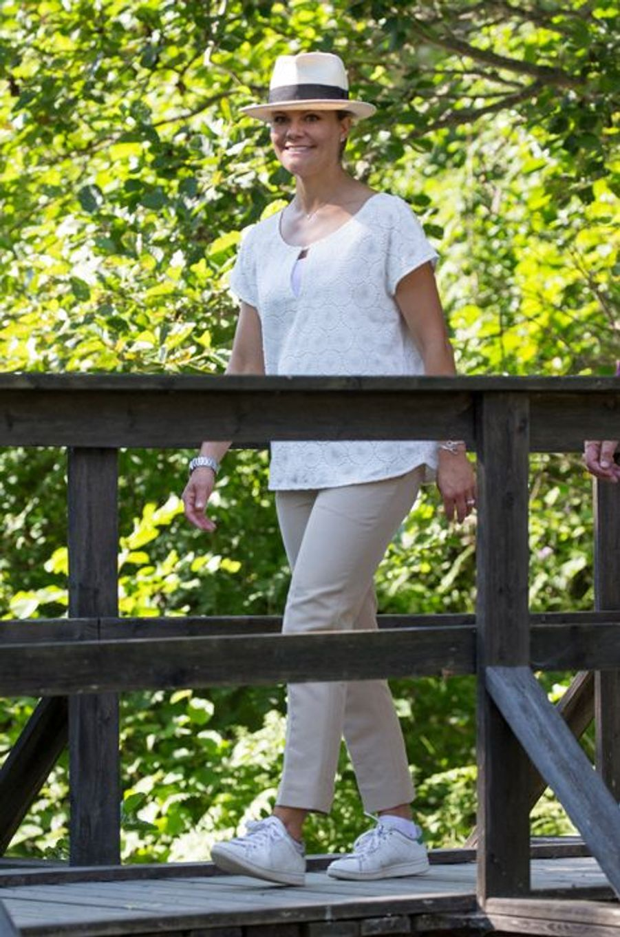 La princesse Victoria de Suède à la frontière norvégo-suédoise, le 22 août 2015