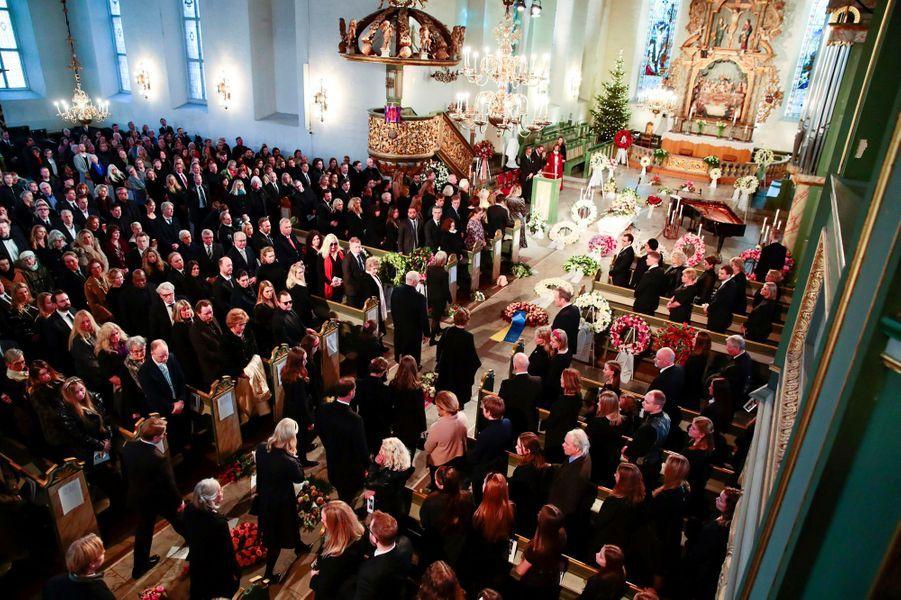 Les obsèques d'Ari Behn en la cathédrale d'Oslo, le 3 janvier 2019