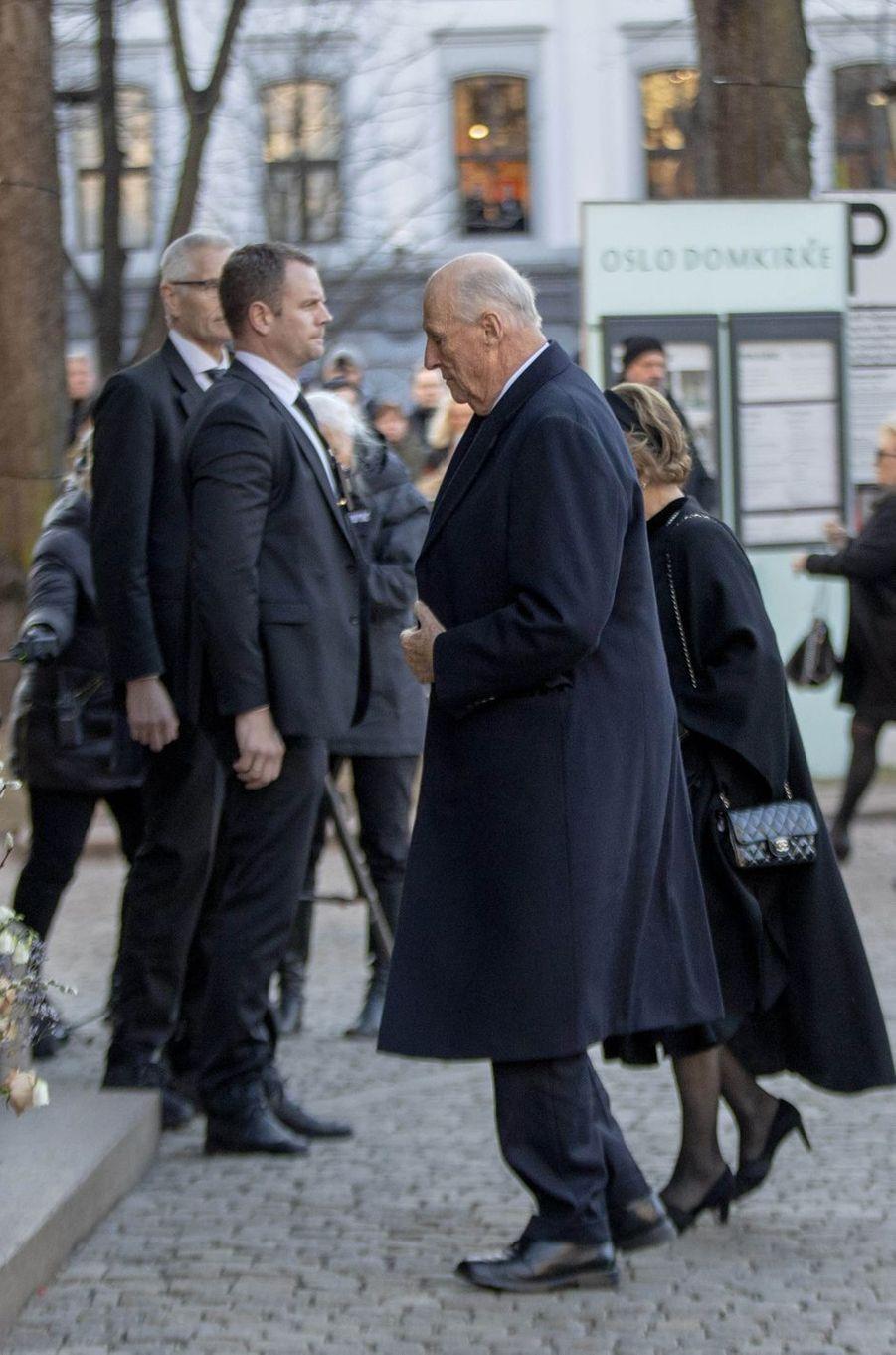 Le roi Harald V de Norvège, à Oslo le 3 janvier 2019