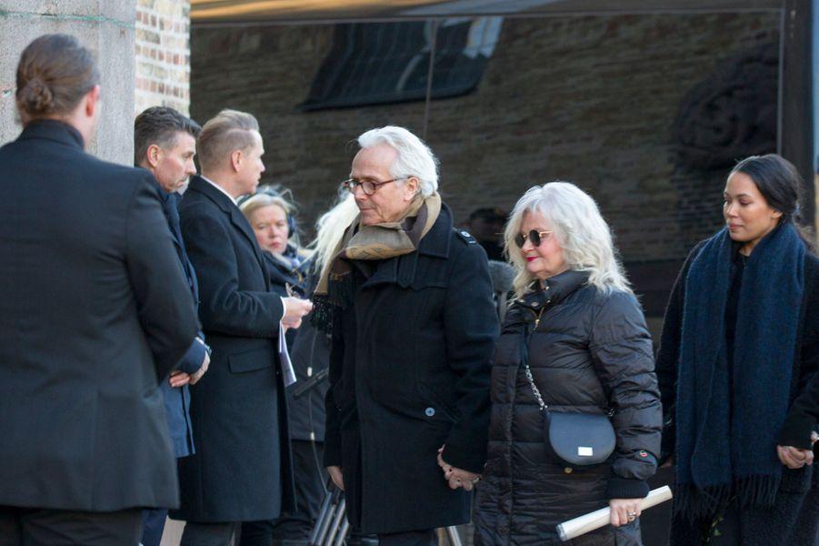 Marianne Behn et Olav Bjorshol, les parents d'Ari Behn, à Oslo le 3 janvier 2019