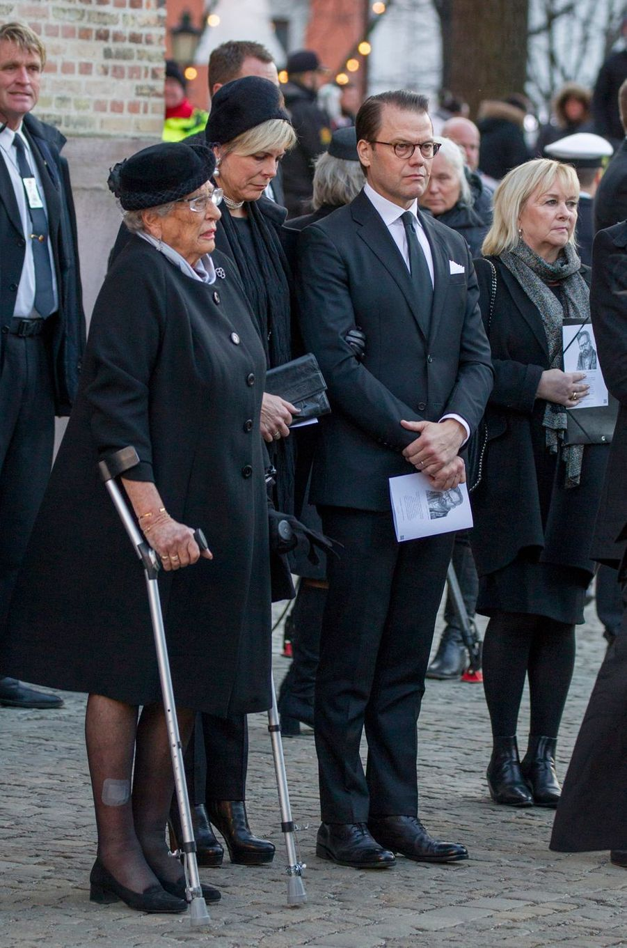 La princesse Astrid de Norvège, le prince consort Daniel de Suède et la princesse Laurentien des Pays-Bas, à Oslo le 3 janvier 2019