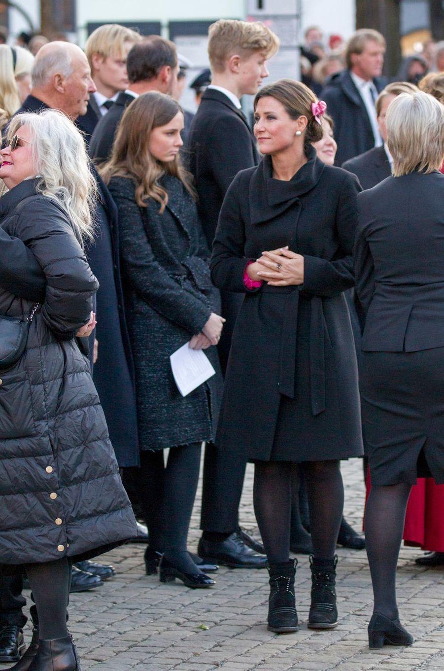 Les princesses Ingrid Alexandra et Märtha Louise de Norvège, à Oslo le 3 janvier 2019