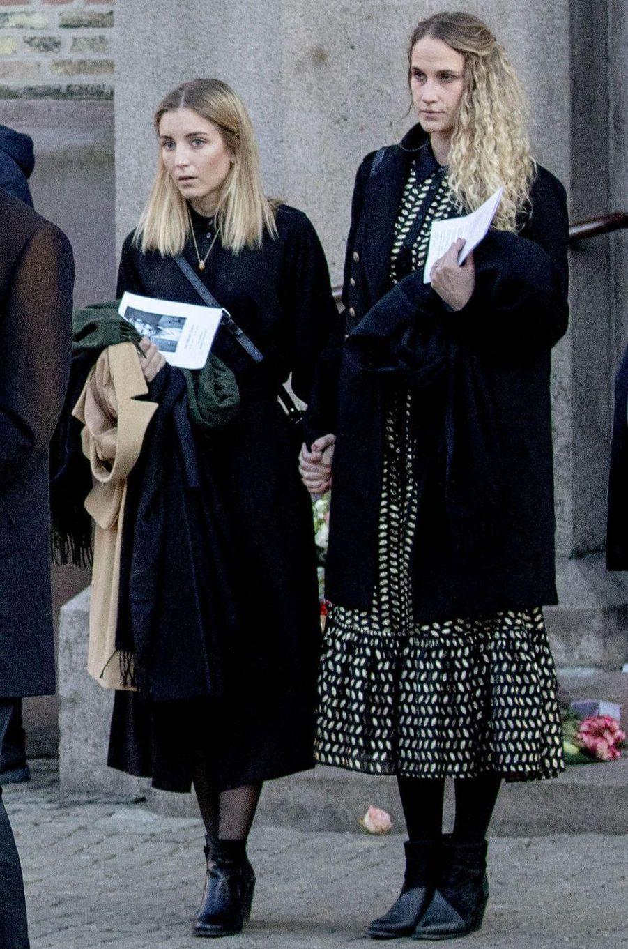 A droite, Ebba Rysst Heilman, la dernière compagne d'Ari Behn, à Oslo le 3 janvier 2019