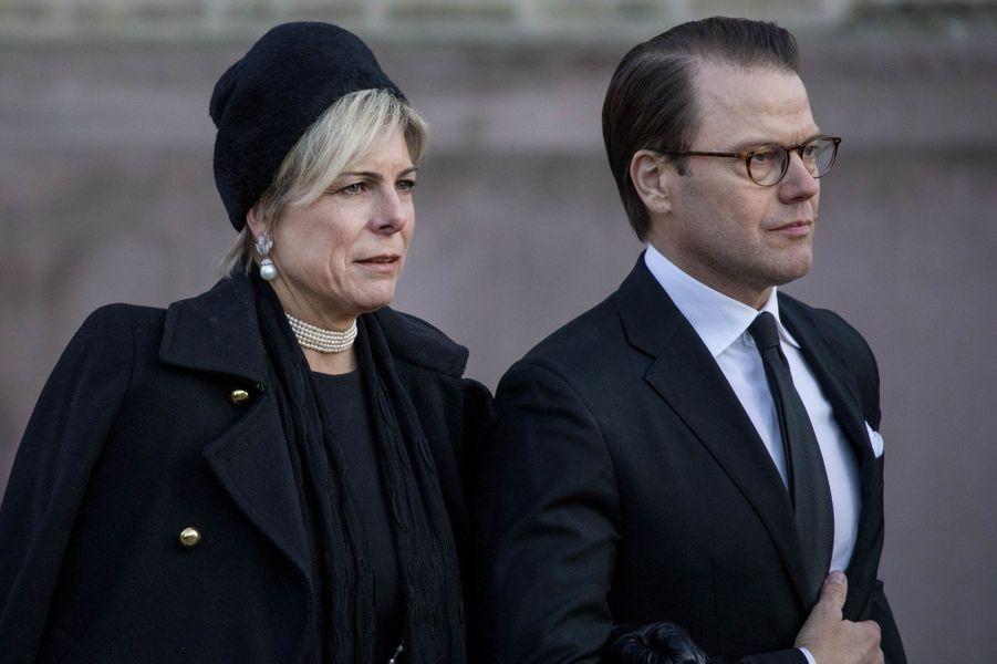 La princesse Laurentien des Pays-Bas et le prince consort Daniel de Suède, à Oslo le 3 janvier 2019