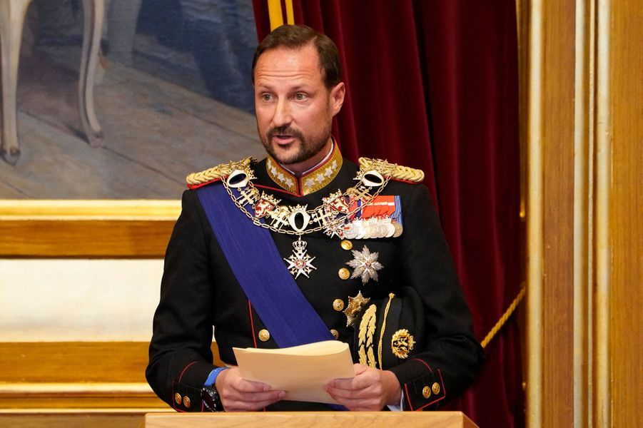Le prince héritier Haakon de Norvège à Oslo, le 2 octobre 2020