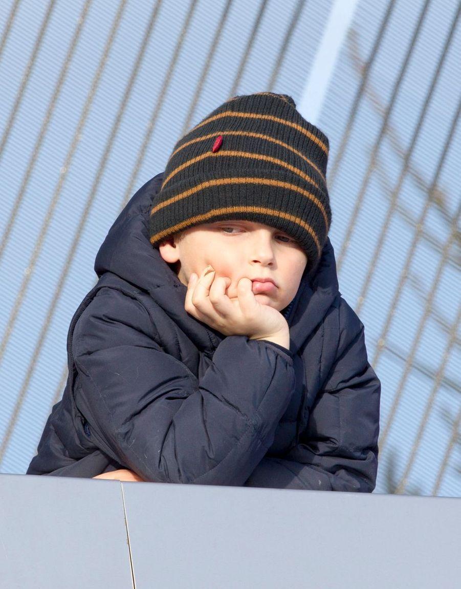 Le prince Sverre Magnus de Norvège, le 17 mars 2013