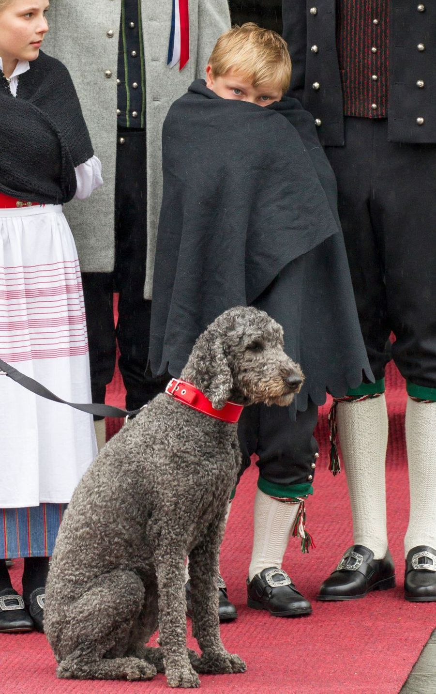 Le prince Sverre Magnus de Norvège, le 17 mai 2015