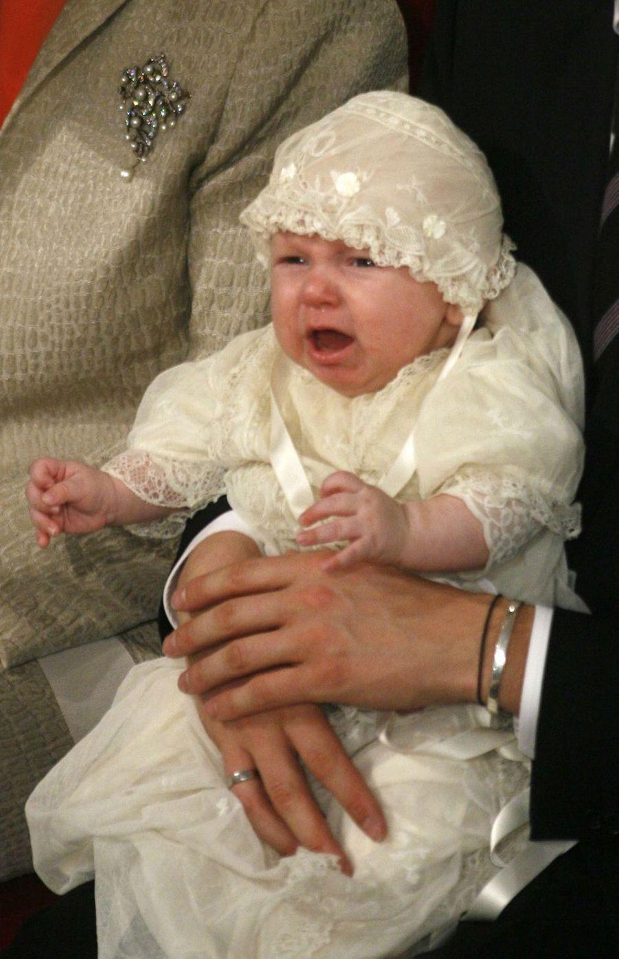 Le prince Sverre Magnus de Norvège, le 4 mars 2006, jour de son baptême