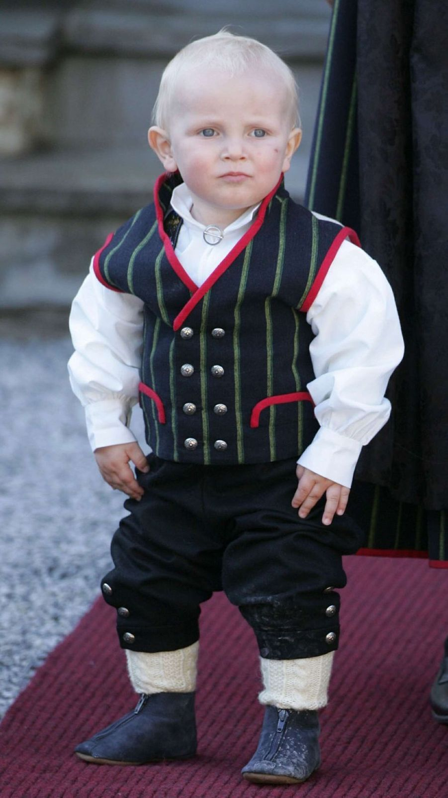 Le prince Sverre Magnus de Norvège, le 17 mai 2007