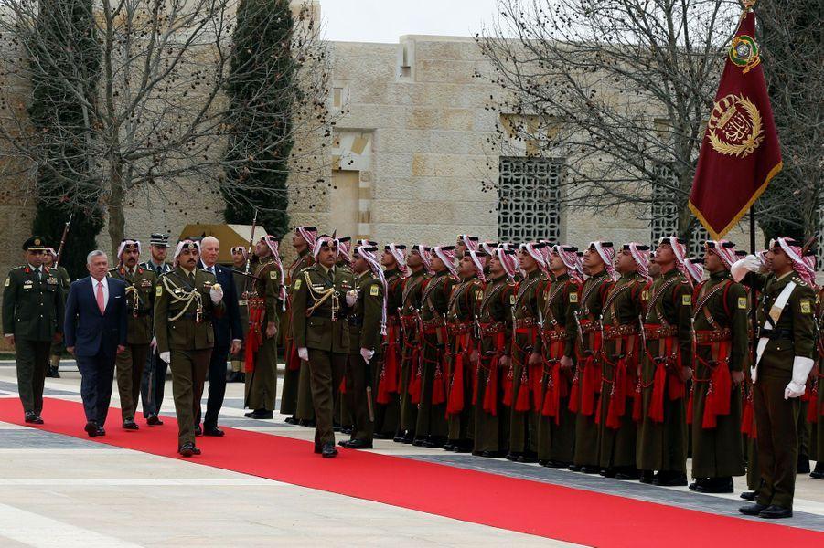Les rois Harald V de Norvège et Abdallah II de Jordanie à Amman, le 2 mars 2020