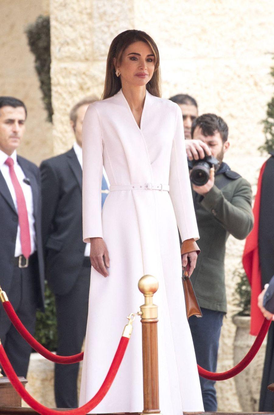 La reine Rania de Jordanie à Amman, le 2 mars 2020