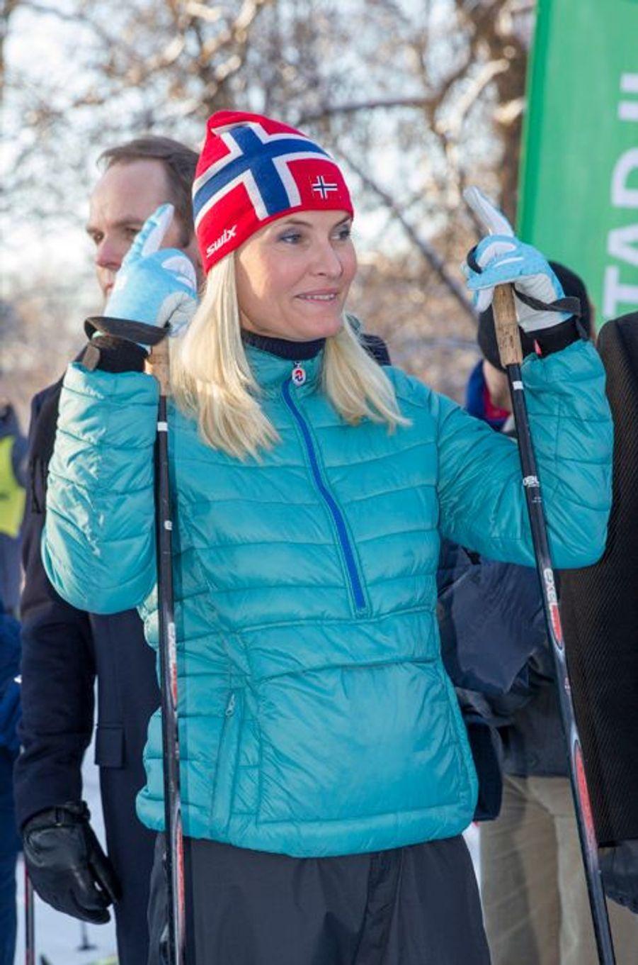 La princesse Mette-Marit de Norvège à Oslo, le 17 janvier 2016