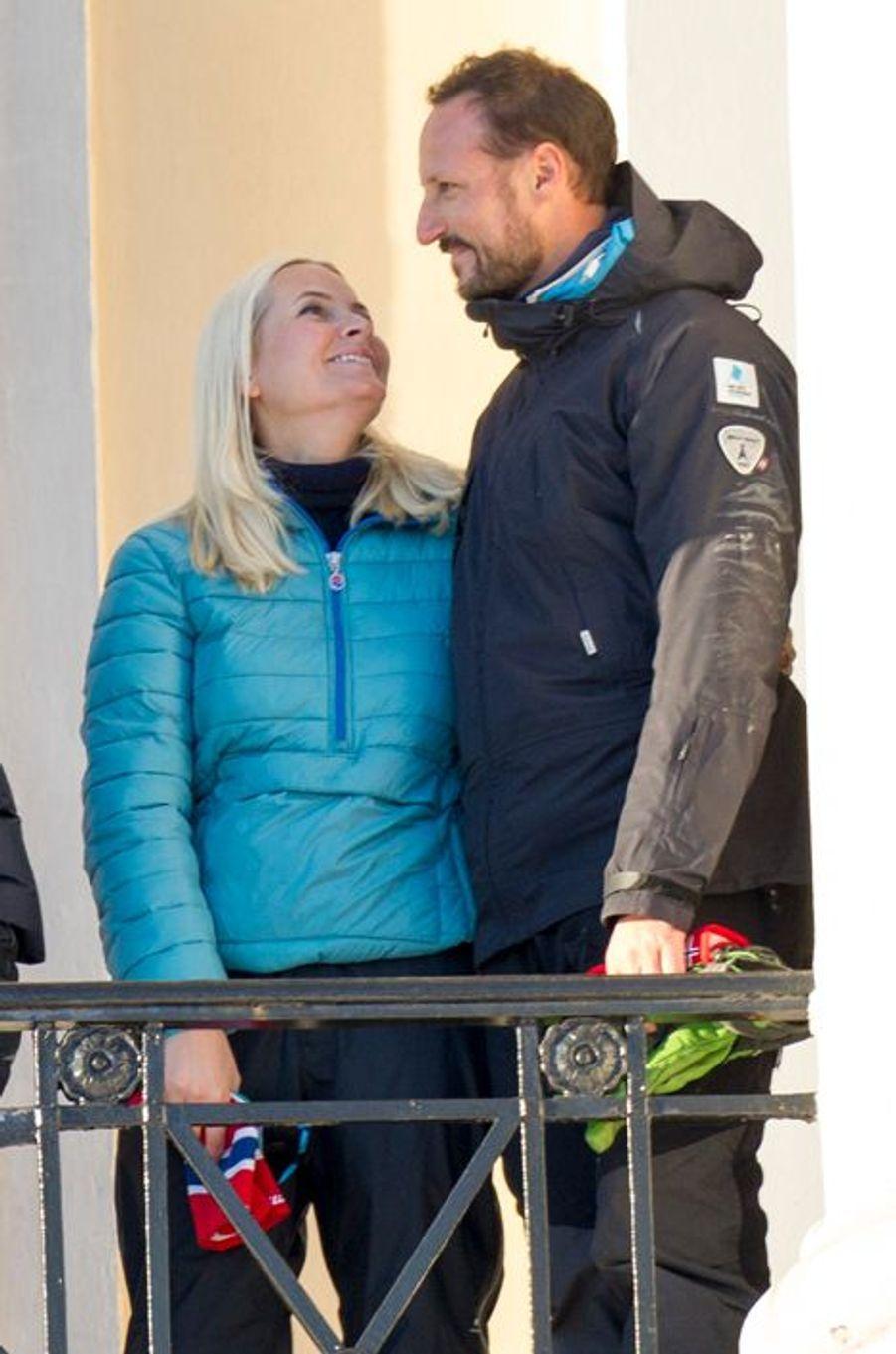 La princesse Mette-Marit et le prince Haakon de Norvège à Oslo, le 17 janvier 2016