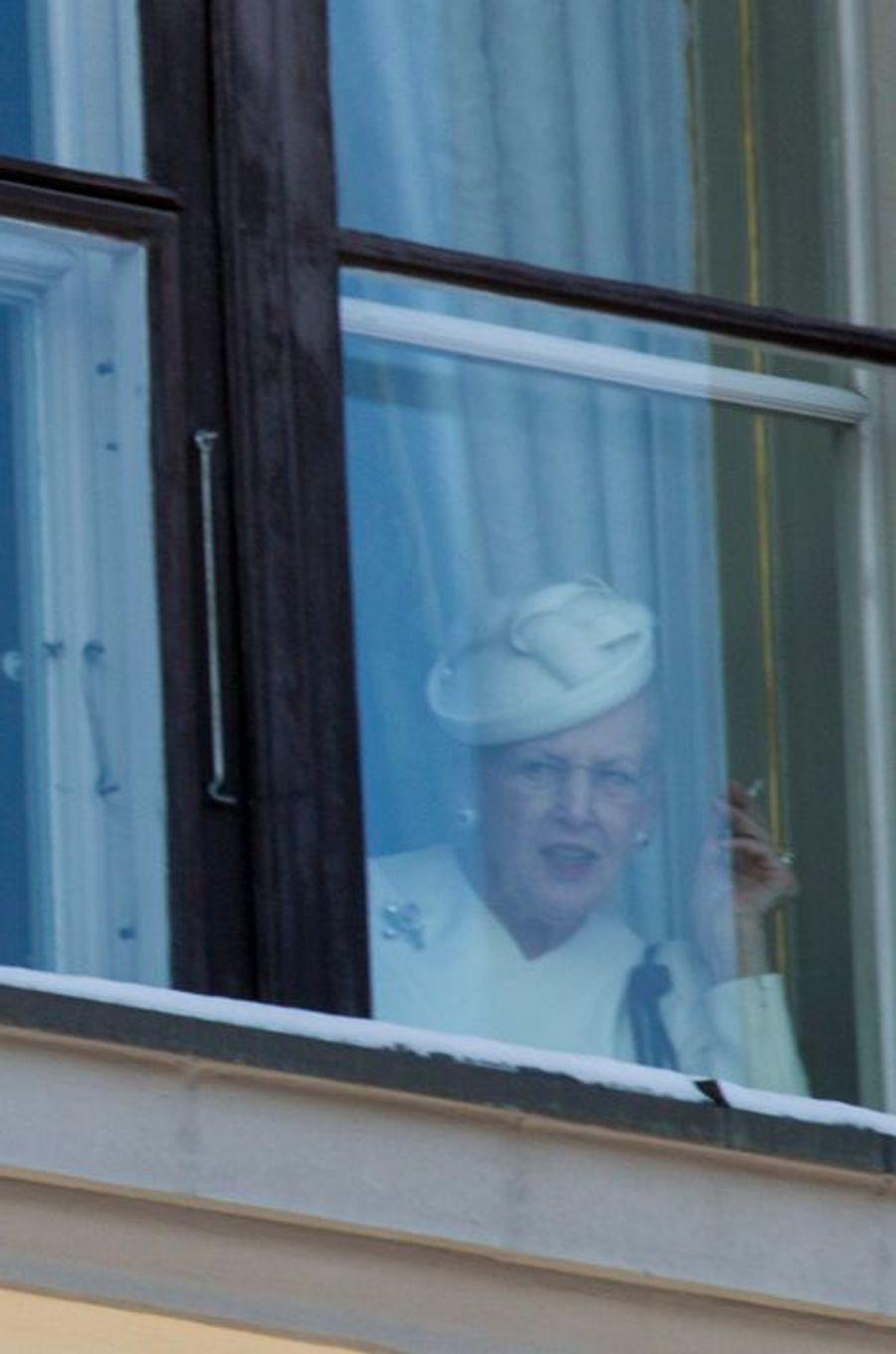 La reine Margrethe II de Danemark à Oslo, le 17 janvier 2016