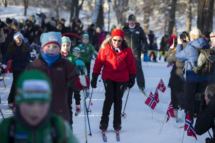 La reine Sonja de Norvège à Oslo, le 17 janvier 2016