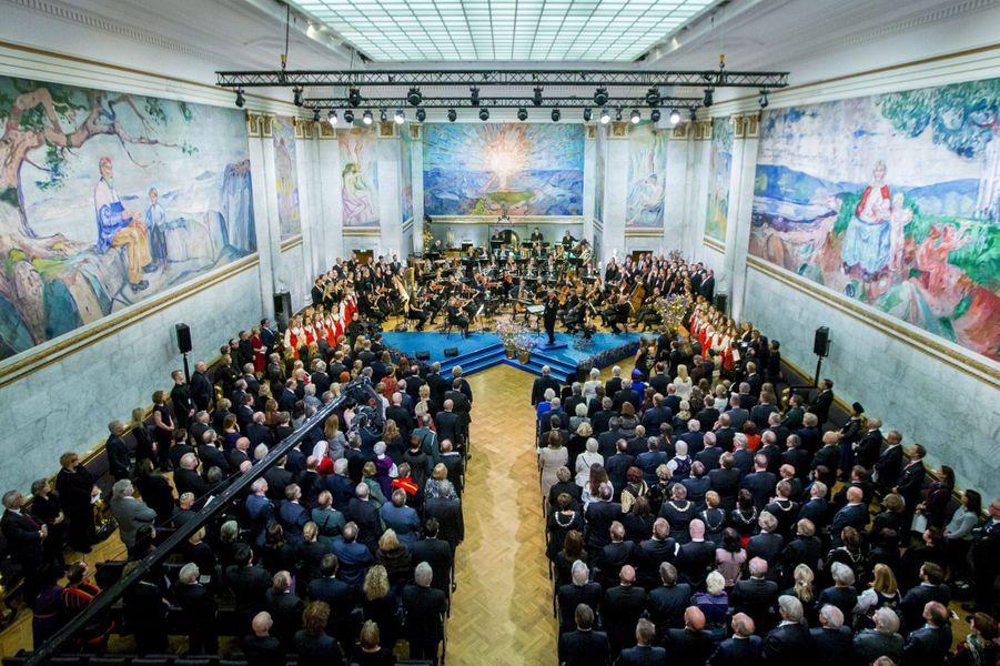 Le concert des 25 ans de sacre du roi Harald V de Norvège à Oslo, le 17 janvier 2016