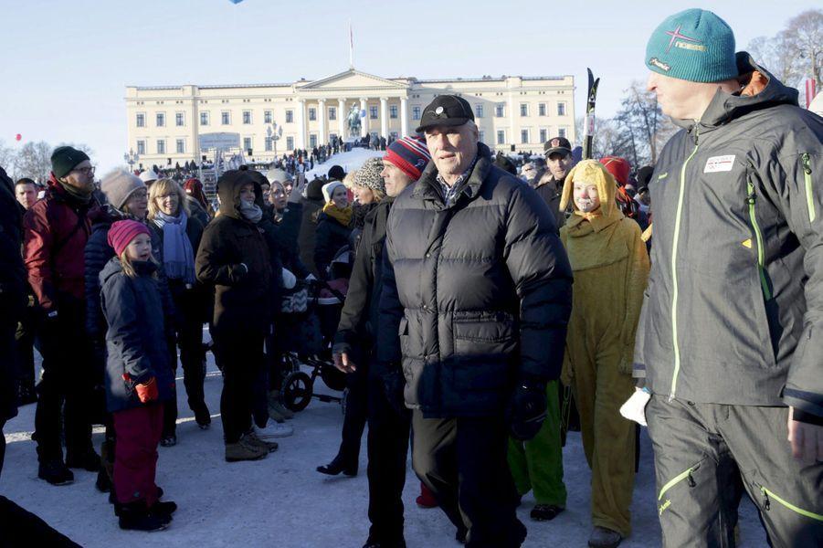 Le roi Harald V de Norvège à Oslo, le 17 janvier 2016