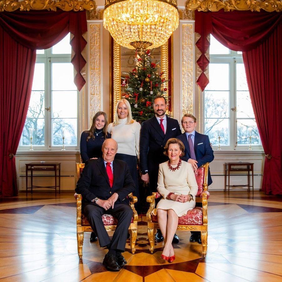 L'une des photos de Noël de la famille royale de Norvège au Palais royal à Oslo, diffusée le 14 décembre 2018