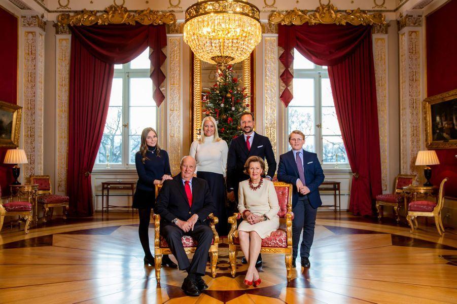 L'une des photos de Noël de la famille royale de Norvège, diffusée le 14 décembre 2018