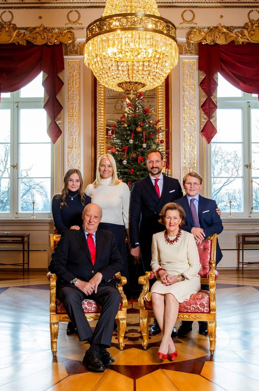 L'un des portraits de la famille royale de Norvège, diffusé le 14 décembre 2018